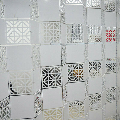 Room Divider Hollow Hanging Screen House Partition Carved White Panel Decor 4PCS