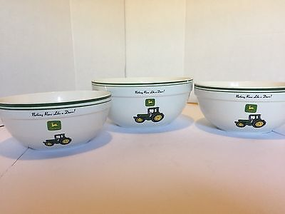 Gibson John Deere 3 Piece Mixing Bowl Set