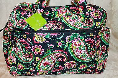 Authentic Vera Bradley  Large Baby Diaper Bag W Changing Pad In Petal Paisley