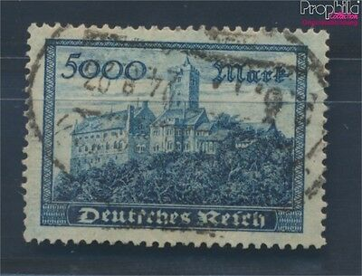 German Empire 261b proofed fine used / cancelled 1923 Wartburg (8248783