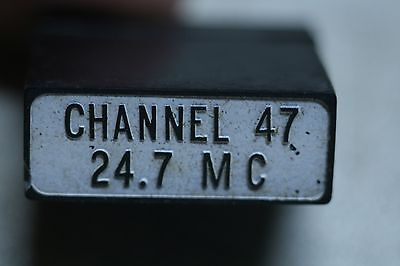 Western Electric FT-241-A Crystal Holder with Channel 47  24.7 MC