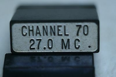 Western Electric FT-241-A Crystal Holder with Channel 70  27.0 MC