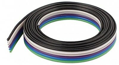 1m 3.3ft 6 Pin Flexible IDC Flat Ribbon Cable Wire 1.27mm Pitch