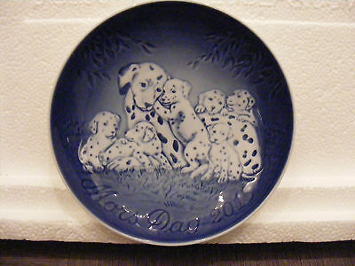 NIB Bing & Grondahl Mother's Day Plate 2015 Dalmatian with puppies/Royal Copen