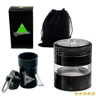 Fine Herb Grinder Set for Weed, Spice, and Tobacco including Large, four pieces