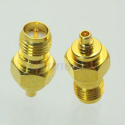 1pce RP-SMA female plug to MMCX male plug RF coaxial adapter connector