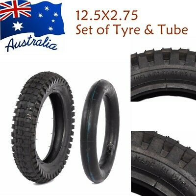 12.5X2.75 Front Rear Tire Tyre & Tube Dirt Bike Knobbly Trail Pocket Motorcycle