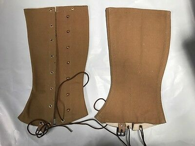 M1898 Drab (Khaki)  Canvas Infantry Cavalry Leggings Size 1