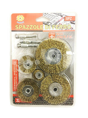 6pcs Rotary Wire Wheel Set Brush Cup 6mm Shank Rust Paint Weld Removal UK