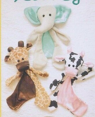 PATTERN - Three Little Lovies - cute snuggle toys PATTERN - Sweetbriar Sisters