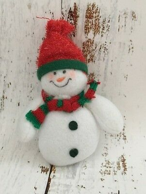 "Vintage Christmas FUN! Soft ""Snowman"" Pin  4""x2"""