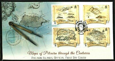 Pitcairn Islands Maps 1773-2005 Very Fine First Day Cover