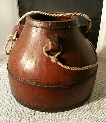 Wooden Japanese Rice  Bucket