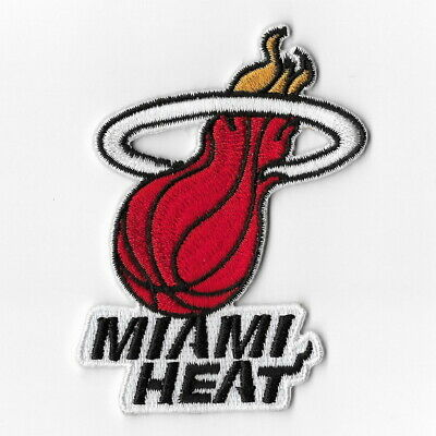 NBA Miami Heat Iron on Patches Embroidered Badge Patch Applique Sew Logo Emblem