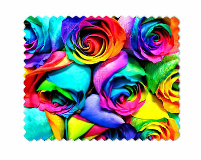 Roses Rainbow Microfiber Lens Glasses Cleaning Cloth