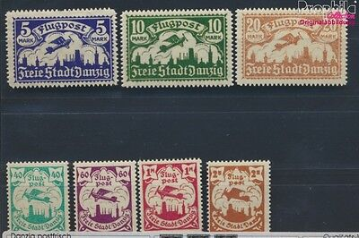 Gdansk 112-118 puncture, perforation possibly. errors MNH 1923 Airmail (8731579