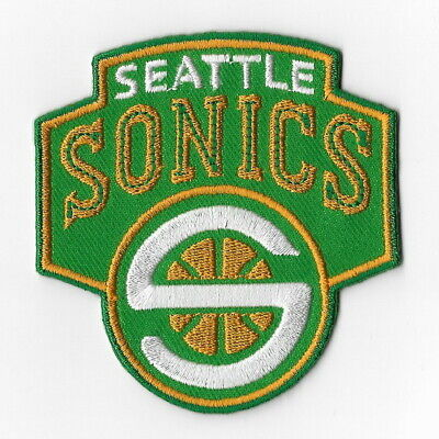 NBA Seattle Supersonics Iron on Patches Embroidered Badge Patch Applique Emblem