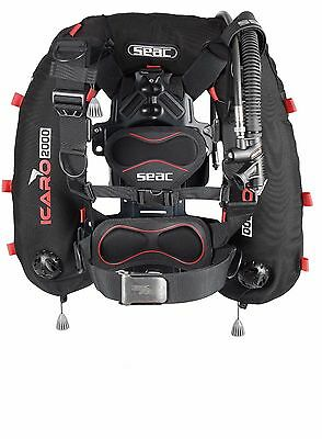 SEAC Icaro 2000 Wing Style BCD Buoyancy Jacket with Aluminium Backplate - NEW