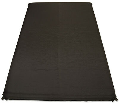 10cm Double Self Inflating Mat Camping/Travel Mattress Bed Sleeping Black