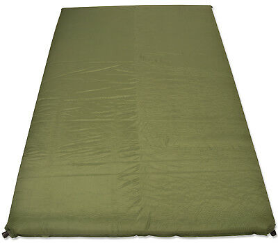 10cm Double Self Inflating Mat Camping/Travel Mattress Bed Sleeping Olive Green