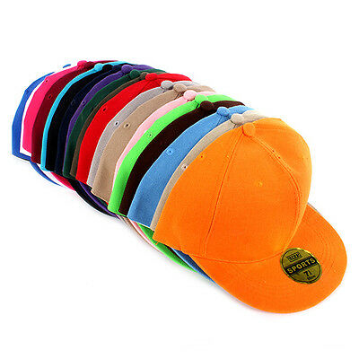 Boy Girls Sports Outdoor Cap Snapback Peank Hat Canvas Adjustable Baseball Cap