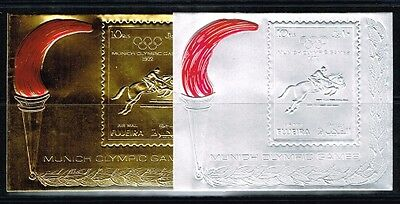 Fujeira 1972 Summer Olymlic Game.Silver &Gold.MNH.**