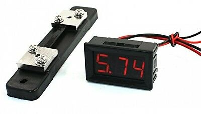 Panel Mount 10A Red LCD Digital Display Ampere Meter Ammeter Amp Gauge