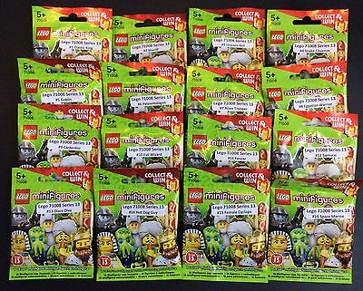 Lego 71008 Complete Set of 16 Series 13 Minifigures Brand New In Sealed Packets