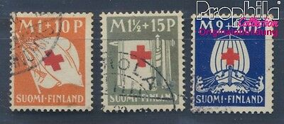 Finland 158-160 (complete issue) fine used / cancelled 1930 Red Cross (8497034