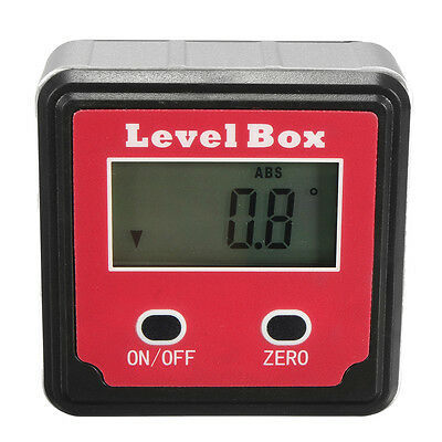 Digital Inclinometer Level Box Protractor Angle Finder Gauge Meter Bevel Machine