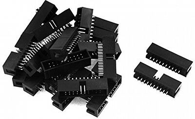 22pcs 2x10 20Pin Straight Box Header Connector IDC Male Sockets 2.54mm