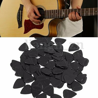 100X Guitare Médiators Plectre Electrique Acoustique Celluloïd Picks Noir 0.71mm