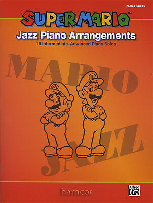 Super Mario Jazz Piano Arrangements Music Book Intermediate - Advanced Solos