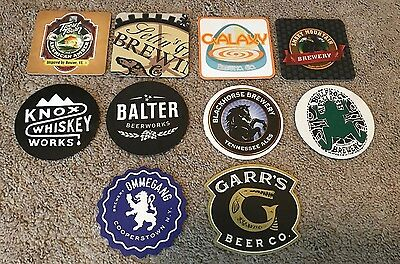 Lot #8 of 10 Craft Micro Brewery Beer Coasters - Brand New