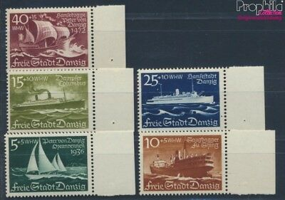Gdansk 284-288 unmounted mint / never hinged 1938 sailing yacht (8777423
