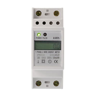 50Hz 10(40)A 230V Electricity KWH Power Energy Meter Single Phase DIN Rail TE747