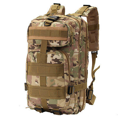 30L Outdoor Military Tactical Rucksack Camping Hiking Trekking Backpack CP Sport