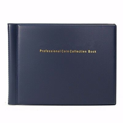 120 Coin Holders Collecting Collection Storage Money Pockets Penny Album Book