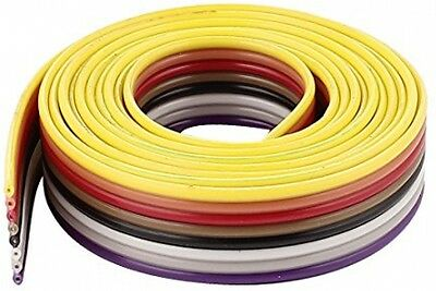Sourcingmap 1m 8 Way Rainbow Color Flat Ribbon Cable IDC Wire 1.27mm