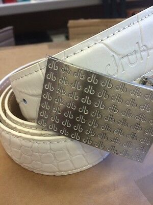 Druh Men's Players White Crocodile Leather Belt One Size Fits All New