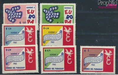 Paraguay 986-992 unmounted mint / never hinged 1961 Europe (7188906