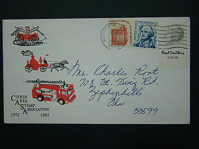 1982 Us Advertising Cover -Citrus Area Stamp Association