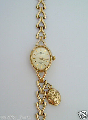 Beautiful 9ct Gold Sovereign Watch With Charm