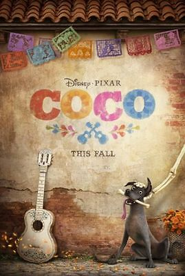 COCO Original DS 27x40 Movie Poster TEASER Version DISNEY New! Unused! 2 Sided