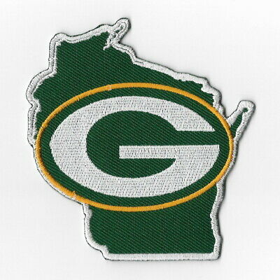 Green Bay Packers Map Iron on Patches Embroidered Badge Patch Applique Sew FN