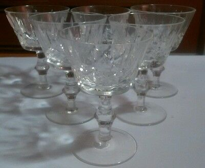 Cross and Olive Crystal Sherbet Glasses Set of 6 Fruit Nappies