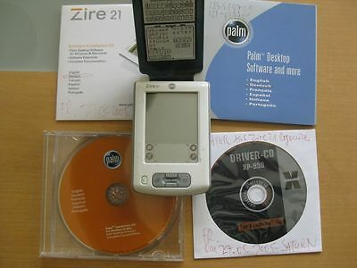 "PALM ZIRE 21 2,8"" 160 x 160 Mono display Palm OS PDA White mit Software CDs"