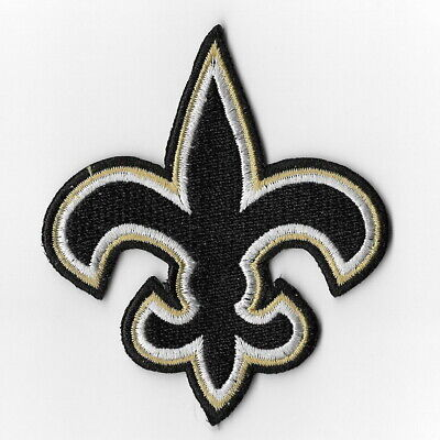 New Orleans Saints Iron on Patches Embroidered Badge Patch Sew Emblem Black FN