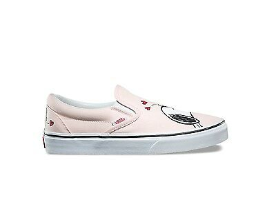 12efe7b765a261 New Vans x PEANUTS Slip On SNOOPY LUCY Charlie Brown Pink Smack Shoes Men  Women