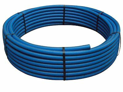63mm outer diameter blue MDPE water pipe 25 Mtr